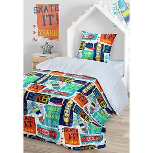 Комплект постельного белья  Скейт, 1,5-спальное Juno. Цвет: разноцветный