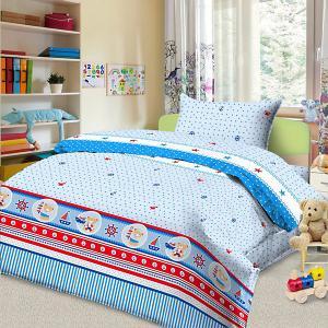 Детское постельное белье 3 предмета , BG-102 Letto. Цвет: синий