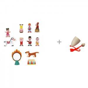 Деревянная игрушка  Маленькие истории Цирк и Поймай мяч 3 Janod