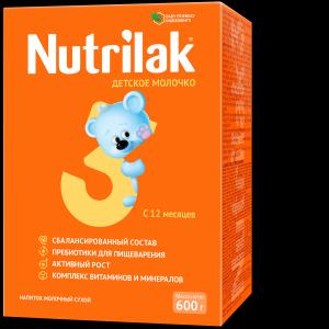 Молочная смесь  3 с 12 месяцев, 600 г Nutrilak