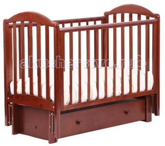 Детская кроватка  АБ 17.3 Лилия маятник продольный с инкрустацией стразами Д002 Кубаньлесстрой