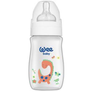 Бутылочка  Classic Plus для кормления с широким горлышком из ПП, 250 мл., Динозаврик WeeBaby