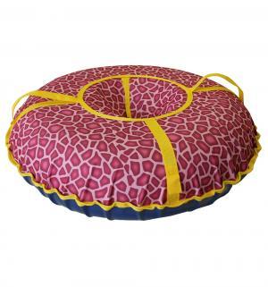 Санки надувные  Народные большие, цвет: принт жираф Иглу