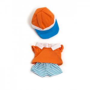 Одежда для куклы Warm weather polo set 21 см Miniland