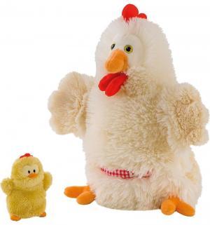 Игрушка на руку  Курочка с цыпленком 28 см Trudi