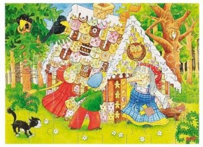 Деревянная игрушка  Пазл в коробке Ганс и Гретель 48 деталей Goki