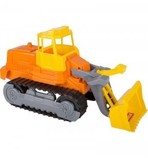 Гусеничный трактор-погрузчик  желто-оранжевый Полесье
