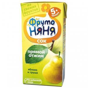 Сок  груша-яблоко, 200 мл ФрутоНяня