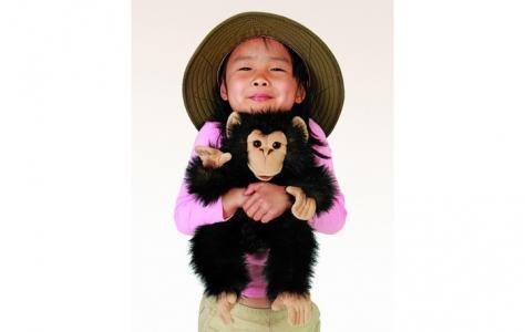Мягкая игрушка на руку Детеныш шимпанзе 40 см Folkmanis