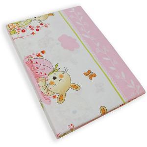 Комплект постельного белья  Зайчик-садовод розовый Soni Kids. Цвет: розовый