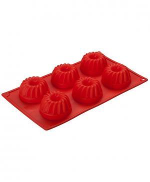 Форма для кексов 6 ячеек Фигурные 30х17,5х3,8 см Silicone Regent