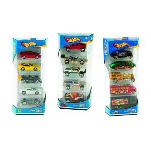 Игровой набор  подарочный из 5 машин Hot Wheels