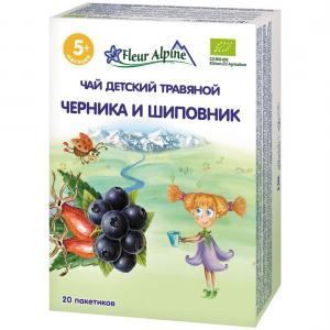 Чай  Organic Черника и шиповник, 30 г Fleur Alpine