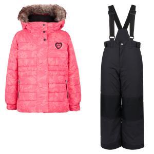 Комплект куртка/полукомбинезон , цвет: розовый Peluchi&Tartine