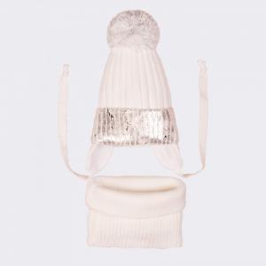 Комплект для девочки (шапка и снуд) 53-128 Ёмаё