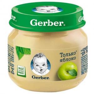 Пюре  яблоко с 4 месяцев, 80 г Gerber