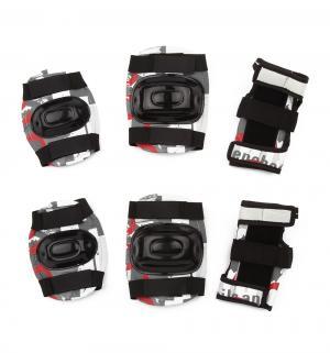Комплект защиты  Sport PW-308, цвет: красный/серый Action
