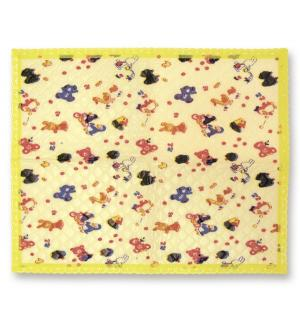 Подстилка  детская с окантовкой, 1 шт, цвет: желтый Сказка