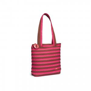 Сумка Premium Tote/Beach Bag, цвет розовый/коричневый Zipit