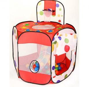 Дом-палатка + 100 шаров Многоугольник+Баскетб.кольцо Calida