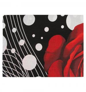 Комплект постельного белья  2-х спальный/нав. 70х70, цвет: черный/красный Василиса