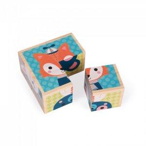 Деревянная игрушка  Кубики деревянные Лесные портреты Janod