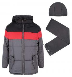 Куртка куртка/шапка/шарф , цвет: черный/красный iXTREME by Broadway kids