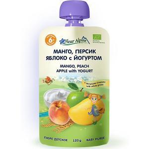 Пюре  манго-персик-яблоко с йогуртом, 6 мес, штук Fleur Alpine