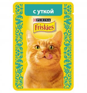 Корм влажный  для взрослых кошек, утка, 85г Friskies