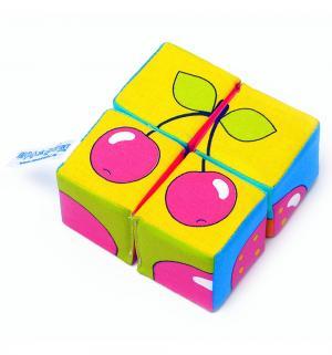 Набор кубиков  Собери картинку Ягоды фрукты овощи Мякиши