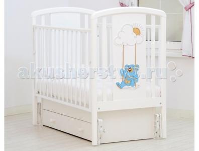 Детская кроватка  Жаклин Мишка на ракете универсальный маятник Angela Bella