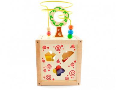Деревянная игрушка  Логический кубик Мир деревянных игрушек