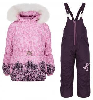 Комплект куртка/полукомбинезон  Бант, цвет: розовый Alex Junis