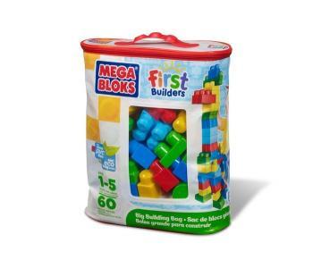 Конструктор  First Builders Большой 60 деталей Mega Bloks