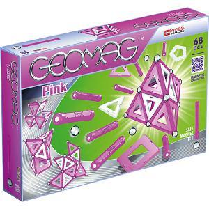 Магнитный конструктор  Pink, 68 деталей Geomag