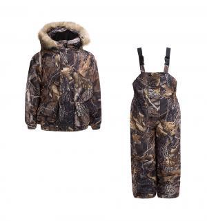 Комплект куртка/полукомбинезон Ursindo, цвет: бежевый/коричневый Тайф