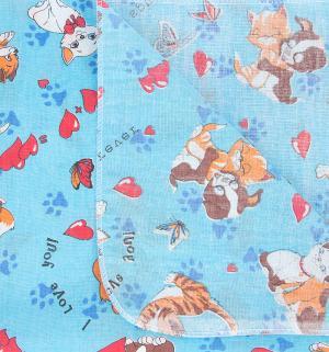 Пеленка 80 х 110 см, цвет: синий Звездочка