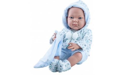 Кукла Бэби мальчик с голубым слюнявчиком 36 см Paola Reina