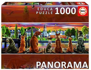 Пазл панорама Собаки на набережной (1000 деталей) Educa
