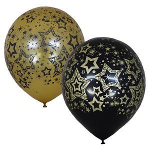 Воздушные шары  Голливуд Black&Gold, 25 шт Latex Occidental. Цвет: разноцветный