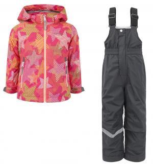 Комплект куртка/полукомбинезон  Звезды, цвет: розовый IcePeak