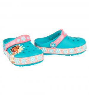 Сабо  Lights Moana Clog Multi, цвет: голубой/розовый Crocs