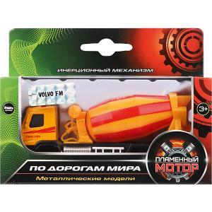 Грузовик  Автобетоносмеситель Volvo, 12 см Пламенный мотор. Цвет: разноцветный