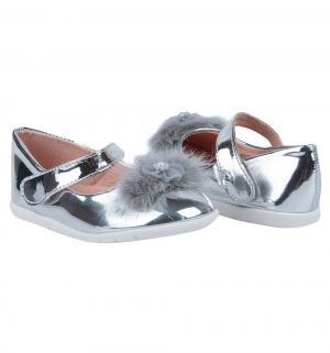 Туфли , цвет: серебряный Прыг-Скок