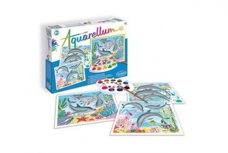 Раскраска  Акварельная Дельфины SentoSpherE
