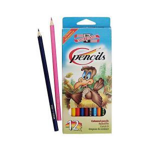 Набор цветных карандашей  Птицы, 12 цветов KOH-I-NOOR. Цвет: голубой/зеленый