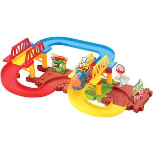 Железная дорога  с поездом Devik Toys. Цвет: разноцветный