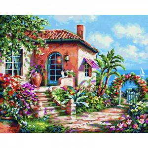 Картина по номерам Загородный дом на море 24х30 см Schipper