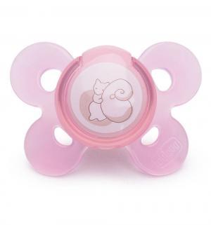 Пустышка  Physio Comfort Белочка силикон, с рождения, цвет: розовый Chicco