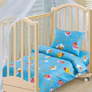 Комплект постельного белья  Облачко, цвет: синий 3 предмета Артпостель